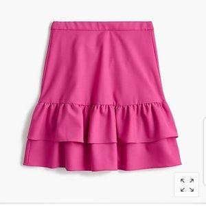 NWT J. Crew wool ruffled skirt